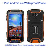 original Huadoo V3 MTK6582 Quad Core IP68 rugged Android 4.4 Waterproof Phone 1GB  Gorilla Glass 2 Smartphone 3G GPS A8  A9  M8