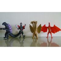 Godzilla Monster Assembled Plush Soft Stuffed Kids Gift Toy 4pcs Toy Figure