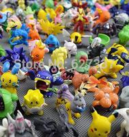 Wholesale Moive & TV 2-3cm Cute Action Figures Toys Mini Pokemon In Random 150Pcs/Lot Free Shipping