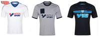 A+++ 2015 New Thailand Marseille Home Away 3rd White Black Grey 14 15 Thai Soccer Jersey Men Shirt