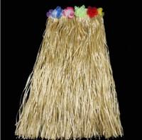 Halloween party dress Hawaiian hula 80 cm adult Hawaii a grass skirt 60cm