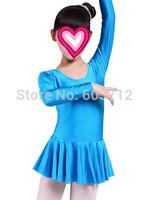2 color hot pink blue Full length Girl Dancing Cloth Children Ballet Dress Kids Gown Dance Dresses Baby Party Girl leotard