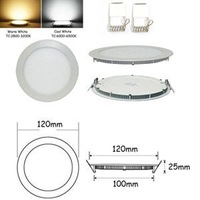 2014 Elegant Round Shape 6W Bright CREE LED Recessed Ceiling Panel Down Light Bulb Lamp LED For Sale
