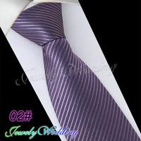 2014 New Arrival 02# Medium Purple Gentlemen Neckties Fashion Casual Designer Brand Men Formal Business Wedding Party Ties