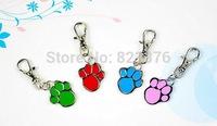 New Arrival 36MM*20MM 100pcs/lot Pet Product Glitter Dog Paw Pet ID Tags Fashion Dog Tags Pet Pendant Tags Free shipping