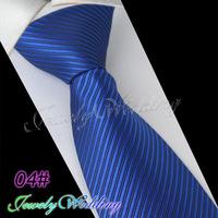 02#  Silk Polyester Woven Smooth Tie Classic Man's Medium Purple Stripe Business Wedding Party Fashion Casual Necktie