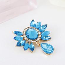 Promotion Fashion Vintage Brooch Crystal Rhinestone Cheap Colorful BOW Bride Brooch Pins Women Wedding Brooch Free