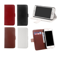 Top Flip Phone Case for iPhone 6 with Textured PU Leather Card Holder Magnetic Clip Stand Folded Protective Cover 4 Colors