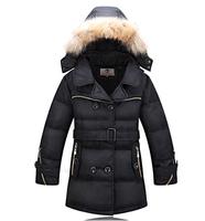 2014 winter brand boys down jacket high quality fur collar duck warm parkas coats large child thick medium-long zipper outerwear