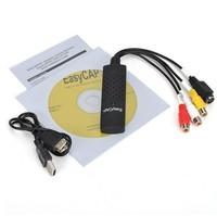Free shipping New USB 2.0 Easycap dc60 tv dvd vhs video capture card audio av easy cap adapter