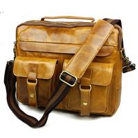 100% Crazy horse leather men bags Europe and the United States men business briefcase men's vintage bag Shoulder Messenger bags
