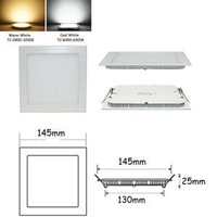 "Holiday Sale Ultra thin design 9W  900Lm 6""Open Hole LED ceiling recessed grid downlight slim square panel light For Sale"