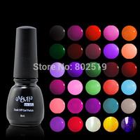 Free Shipping 77 Colors 8ml/pcs Choose Any 6 Colors Manicure Art Soak Off Nail Gel Polish