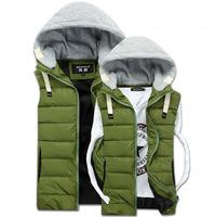 CD-66 Men vest Autumn winter Sleeveless jacket Casual Waistcoat men Men's down vest Winter vest Male vest Military