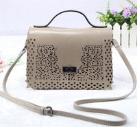 hollow out genuine leather bag 2014 small crossbody bags for women shoulder bag