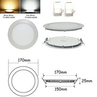 High Qualtiy 12W Glasses led Round panel Recessed Wall ceiling Downlight  white indoor lighting modern led ceiling light bedroom