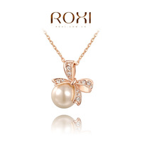 ROXI  Wholesale fashion Rose Gold Plated Austrian crystal Necklace ,new arrival fashion jewelry factory prices RO117