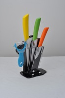 Ceramic Knife Set Peeler Holder 3'' 5'' 6'' Kitchen Knives and Accessories Sharp Quality Red Blue Green Pink Orange Dropshipping
