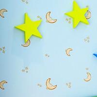 Moon Star Sky Kids Wallpaper Baby for Walls Room DZK133  papel de parede infantil