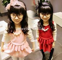 children  vest top + skirt  clothing set ,children  suit,3-7 YEARS,WZ14-YXZ02