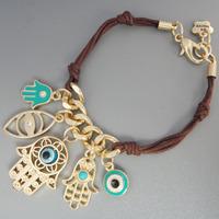 Handmade Multi Fatima Hand Turquoise Evil Eye Charm Hamsa Bracelets Bangles For Women Free Shipping