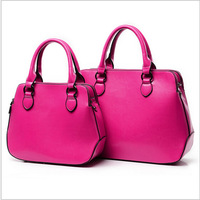 2014 new tide in Europe and the big leather handbag, fashion lady handbags