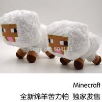 2014 Genuine Minecraft White Sheep JJ Dolls Minecraft Creeper Coolie Afraid Plush Toys Stuffed Toys of My World Baby Kids GIFT