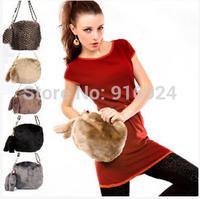 Free shipping fashion all match women's Fur messenger bag Chian Rabbit handbags colors shoulder bag