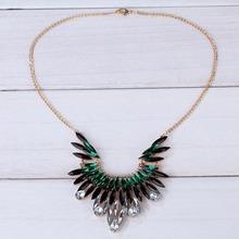 Fashion Hot Elegant Jewelry Pendant Crystal Rhinestone Gold Chain Bib Necklace Women Wedding Party For Women