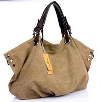 Hot Sale Big Size 2015  Famous Brand Canvas Women Tote Shoulder Bag Handbags