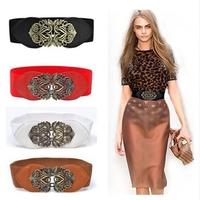 New hot New Fashion women adjustable Flower Elastic Stretch Wide Waistband Belt free shipping