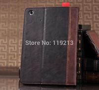 Retro Leather Book Case for iPad 5 for iPad 2 3 4 for iPad mini DHL/EMS Free