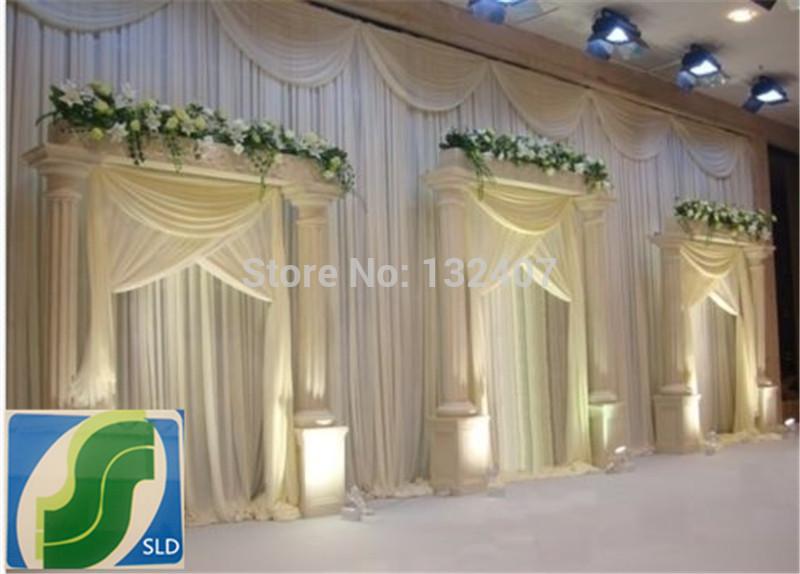decoration wedding wedding/ice silk fabric curtain for wedding /Backdrop Wedding Drape/ free shipping(China (Mainland))