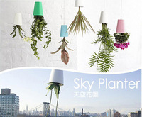 New Arrival and Hot selling Free Shipping Magic Recycled Sky Planter for Home Decoration(color: white,pink,blue,black)