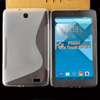 300pcs/lot Free Shipping For Alcatel One Touch Pop 8 Y320x P320X Tablet PC S line S Wave TPU Soft Gel Case With Mix color