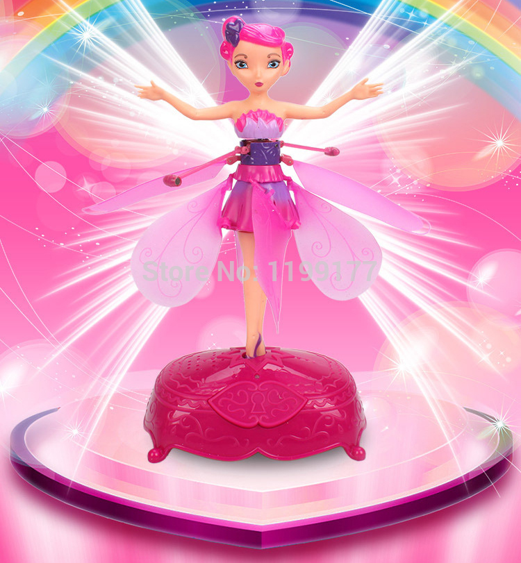 Remote sensing fly fly fairy fairy Music multicolour lighting electric remote control toy plane children gifts(China (Mainland))