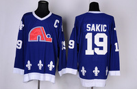 Free Shipping Cheap Quebec Nordiques #19 Joe Sakic CCM Throwback Authentic Stitched Ice Hockey Jersey Wholesale Mix Order