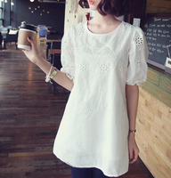hole-digging cutout crochet embroidered all-match loose dress