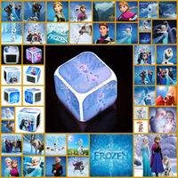 Colorful  New Fashion Frozen Kingdom  Cartoon LED Flash Alarm Clock For Kids