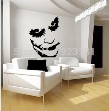 The Joker Batman Heath Ledger Graffiti Wall Art Stickers Decal DIY Home Decoration Wall Mural Removable Bedroom Stickers 72x58cm(China (Mainland))