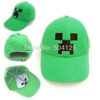 New Minecraft Hat Minecraft cap Creeper baseball hat Sun hat Plush Stuffed Doll Green JJ Monster Peaked Cap