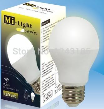 Milight 2.4G Smart phone control E27 6W WiFi Bulbs Led Color Temperature Dim Global Lamp(China (Mainland))