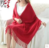 Winter Korea Multicolor Long Large Warm Soft Wrap Women Scarf Shawl Tassels Free Shipping