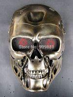 New Horror COS terminator helmet mask CS paintball Ghost creepy resin props Harmonior Cosplay Masquerade Costume party Masks