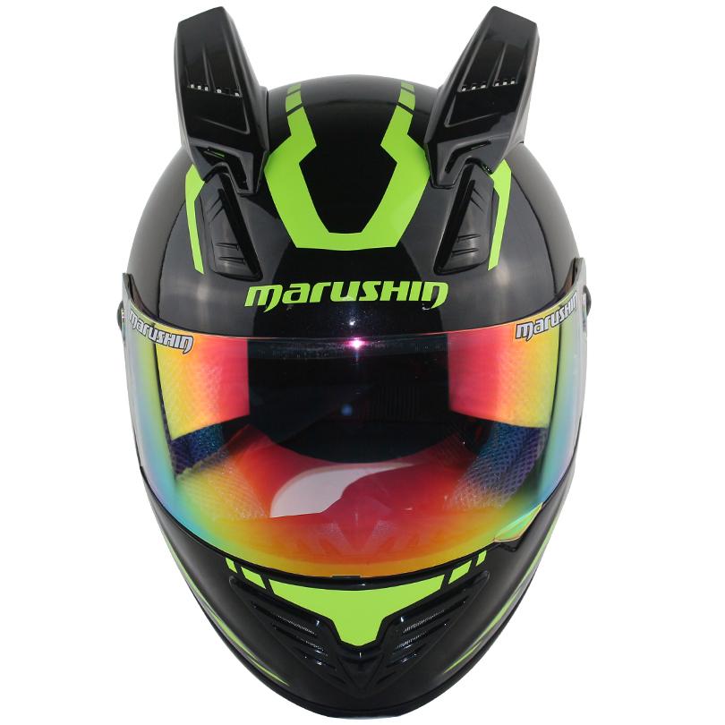 Motorcycle Helmets Horns Motorcycle Helmet Marushin