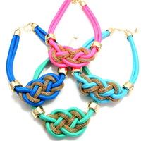 Chokers Necklace For Women 2014 Fashion Accessories neon color rope cotton necklace knitted necklace