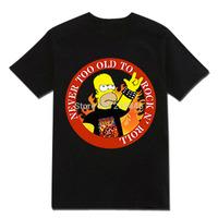 Men Summer Jimi Hendrix Korn ACDC GNR IRON METALLICA Tshirts Hiphop Rock Quality Print T-shirts T Shirts
