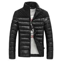 Free shipping 2014 New Men winter Jacket Coat Casual Slim Winter Cotton Men Overcoat Fashion Splicing men coat 2 colors 4 size