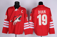Free Shipping Cheap Phoenix Coyotes #19 Shane Doan Red Home Authentic Stitched Ice Hockey Jersey Wholesale Mix Order