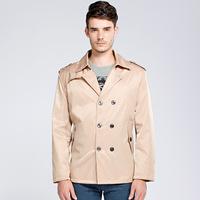 2014 Men's brand New British autumn and winter coat men outdoor long trench coat jacket casaco masculino